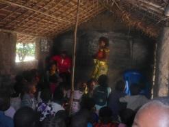 Aidsaufklärung an der Schule MANGA in Kindu